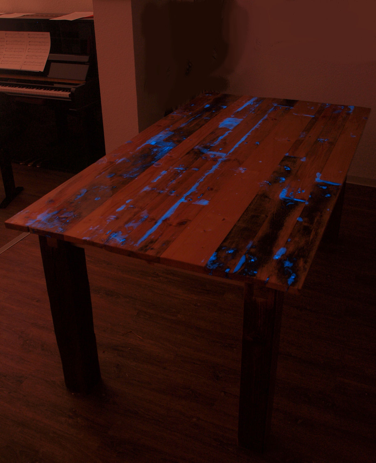 Glow in the Dark Table